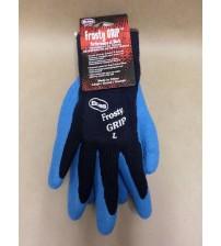 Boss Frosty Grip Performance Work Gloves Latex Grip Acrylic Shell Large Blue New WEAR 10001