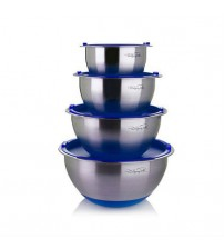 Wolfgang Puck 8 piece Mixing Bowl With Interior Measuring Marks Various Colors