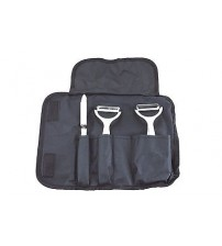 Wolfgang Puck 4 Piece Peeler Set with Black Case in Stainless Steel