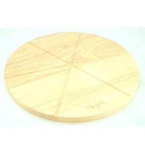 Wolfgang Puck Wooden Pizza Round Cutting And Cooling Board With Imprinted Lines