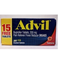 Advil Ibuprofen 200 mg with NSAID Pain and Fever Reducer 115 Tablets Exp 10/18 +