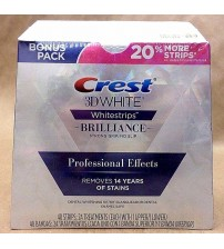Crest 3D White Brilliance Professional Effects Whitestrips 48 Strips Exp 03/18 +