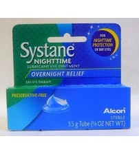 Systane Nighttime Lubricant Eye Ointment Overnight Relief 3.50 g Exp 01/19 + NEW