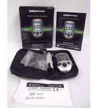 Advanced Glucose Meter with 10 Test Strips CVS Pharmacy Exp 05/19 OPEN BOX NEW OTC 2377