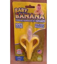 Baby Banana Bendable BPA Free Training Toothbrush for Infants to 12 Months Old