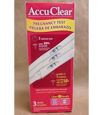 Accu Clear Pregnancy Test 3 Tests In Sealed Box With Clear Results Exp 08/17 TMP 279