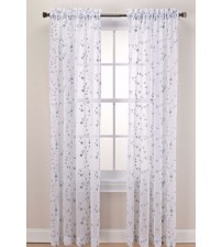 Caspia Window Curtain Panel Rod Pocket Sheer 63 Inch in Mint Green New HOME 1109
