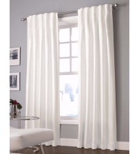 Designers Select Curtain Panel Maximus Inverted Pleat 63 Inch Window in White HOME 1128