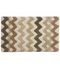 Bacova Guild Belifore Bath Rug in Brown and White Cotton 21 x 34 Inch Brand New HOME 897