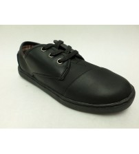 Toms Dress Shoes Paseo Round Toe Black Synthetic Leather Choose Your Size Youth