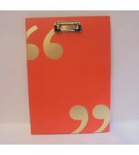 Padfolio With Clipboard 50 Sheets Quote Me Series Markings by CR Gibson New