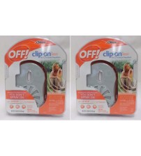 Off Clip On Mosquito Protection Fan Circulated Repellent Lot of Two Brand New