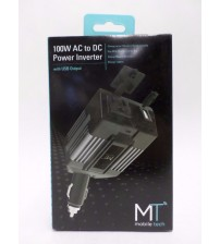 AC to DC Power Inverter 100W With USB Output for Cars by Mobile Tech Brand New ELEC 737