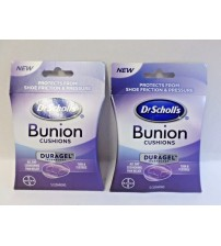 Dr Scholls Bunion Cushions Duragel Technology Thin Flexible 5 Per Pack Lot of 2 MED 368