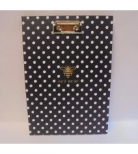 Padfolio With Clipboard 50 Sheets Get Busy Polka Dots Markings by CR Gibson New