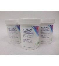 Almay Eye Makeup Remover Pads Gentle Oil Free 100 Count Each Lot of 3 Sealed SAT 683