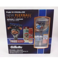 Gillette Fusion Hydra Gel Shave Prep + Old Spice Fiji Body Wash 3 Piece Gift Set EAS 1032