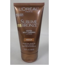 LOreal Tinted Self Tanning Lotion Medium Sublime Bronze 5.0 oz Exp 05/19  GLV 2720