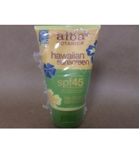 Alba Botanica Hawaiian Sunscreen SPF 45 With Revitalizing Green Tea 4 Oz HVN 238