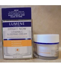 Lumene Finland Bright Now Vitamin C Sleeping Cream Mask Combination 1.7 oz