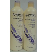 Aveeno Active Naturals Positively Nourishing Calming Body Wash 16 oz LOT OF TWO MJB 337