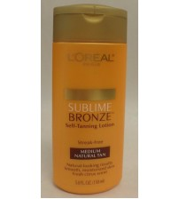 LOreal Sublime Bronze Self Tanning Lotion Medium Natural Tan 5.0 fl oz Exp 02/18 SKN 2148