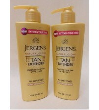 Jergens Natural Glow Tan Extender Daily Moisturizer LOT of 2 New 7.5 oz  SAT 926