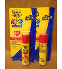 Banana Boat Kids Sunscreen Stick SPF 50 Non Greasy .55 oz Lot of 2  TRN 362