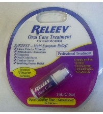 Releeve Oral Care Treatment for Inside the Mouth 0.10 oz Exp 10/17 SEALED NEW