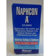 Naphcon A Eye Allergy Relief Clinically Proven Drops Alcon 0.5 oz Exp 08/17 +