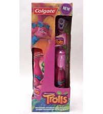 Colgate Powered Toothbrush and Fluoride Toothpaste Combo Dreamworks TROLLS