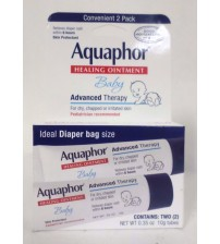 Aquaphor Baby Healing Ointment Advanced Therapy Twin Pack .35 oz Tubes Exp 01/18 GAB 109