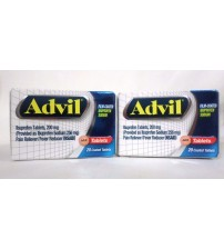 Advil Ibuprofen 200 mg Pain Fever Reducer 20 Coated Tablets Exp 02/18 + LOT OF 2 GAB 83