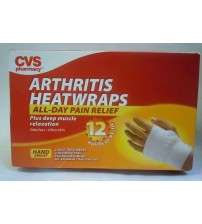 Arthritis Heatwraps Wrist Ultra Thin 2 Treatments CVS Pharmacy Exp 08/17 SEALED