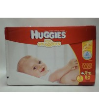 Huggies Diapers Little Snugglers Size 1 Outstanding Skin Care 80 Count Brand New DRP 7