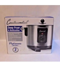5 Quart Deep Fryer and Multicooker with Lid Non Stick CP43279 Continental New COOK 1360