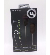 Bluetooth Earbuds Built In Microphone Black and Gray Jolt by Hype Brand New ELEC 807