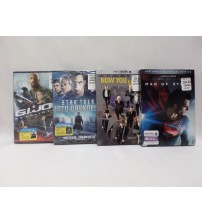 Movie Set Man of Steel Now Your See Me Star Trek and GI Joe DVD Brand New GAME 70