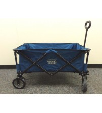 Folding Wagon Cart Garden Shopping Beach Toy Sports Blue Collapsible Frame New
