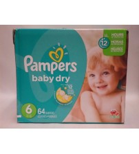 Pampers Diapers Baby Dry Size 6 Protect For 12 Hour Pack of 64 Sesame Street New