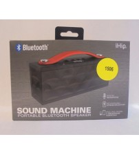 IHip Sound Machine Bluetooth Speaker On The Go Design Massive Sound Black Red