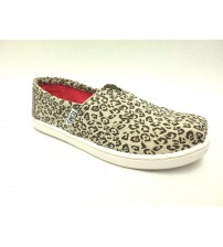 Toms Classic Slip On Shoes Girls Youth Natural Metallic Leopard Choose Your Size