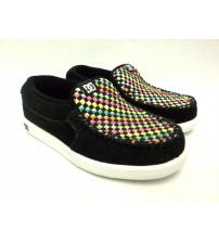 DC Villain SE Black And Multicolored Slip On Shoes Youth Sizes Brand New In Box JSL 1157