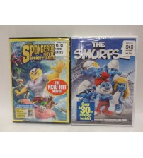 The Spongebob Movie Sponge Out of Water and The Smurfs 2 DVD Set Brand New GAME 71