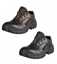 HICO Mens Low Steel Toe Safety Work Shoe Brown or Black Choose Your Size Used JSL 3071