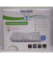 Backjoy ComfortSeat Plus Relieve Back Pain 18 x 16 x 1.5 Inch Waterproof White