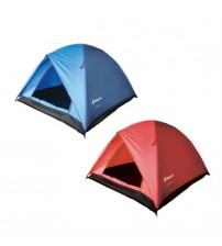 Camping Tent 3 Person Waterproof Polyester With Compression Bag Red or Blue New