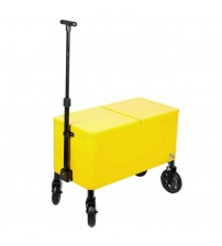 Cooler Cart Yellow Plastic 80 Quart Outdoor Park or Patio by HIO Brand New OUT 5132