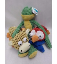 Dog Toy Squeaky Silly Surf Frog Giraffe and Red Macaw Soft Bumps Brand New PET 246