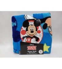 Disney Mickey Mouse Super Soft Travel Blanket 45 Inch By 55 Inch Comfy Plush New TRAV 54